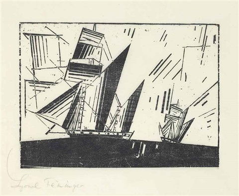 topsail ketches i by lyonel feininger
