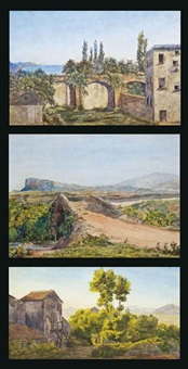 a village on the italian coast (+ 2 others; 3 works) by salomon corrodi