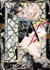 the counterpane (from the waves i) by frank stella