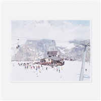 courmayeur mont blanc (from landscapes with figures portfolio) by massimo vitali