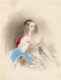 portrait of grand duchess elena pavlovna by vladimir ivanovich hau