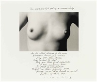 the most beautiful part of a woman's body, 1986 by duane michals