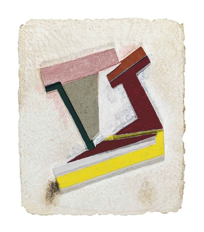 olyka iii from paper relief project by frank stella