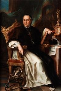 portrait des wessobrunner abtes felice nerini by johan baader