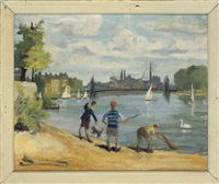 river at chiswick (+ 4 others; 5 works) by anne e. christopherson