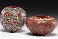 pottery jars (set of 2) by rondina huma
