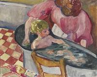 l'enfant dans la baignoire (madame valtat et son fils dans la baignoire) by louis valtat