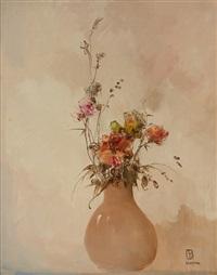 bouquet de fleurs by leon dabo