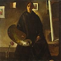 la robe de moine (selbstportrait) by marcel gillis