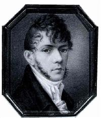 <b>Friedrich Johann</b> Gottlieb (Franz) Lieder - friedrich-johann-gottlieb-(franz)-lieder-bildnis-eines-jungen-herrn-mit-backenbart