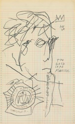 portrait of henry geldzahler by jean michel basquiat
