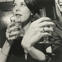 peter beard opening at the international center for photography and club corniche, new york city (2 works) by larry fink