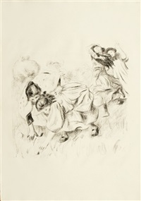 les enfants jouant à la balle by pierre-auguste renoir