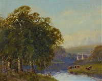 on the conway, north wales by william charles piguenit