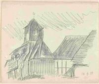 dorfkirche (possendorf) by lyonel feininger