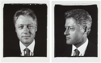 unititled (president clinton) diptych (from freedom of expression (set of two digital)) by chuck close