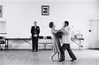 dancing-master ted van rensburg watches two of his ballroom pupils by david goldblatt