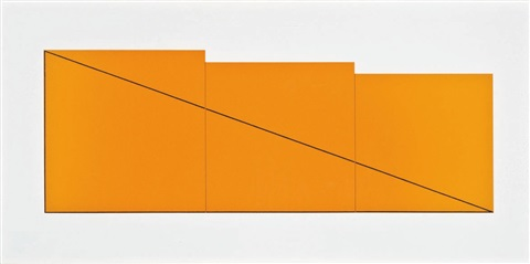 i iv and vi from book of silkscreen prints multiple panel paintings 1973 76 set of 3 by robert mangold