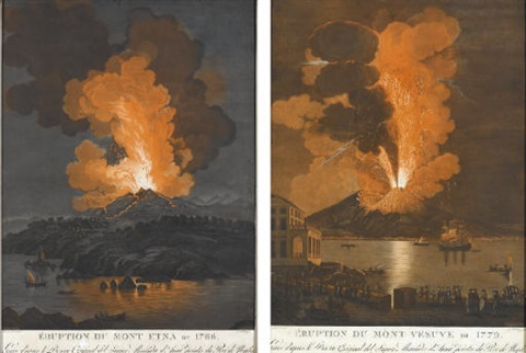 eruption du mont etna de 1779 eruption du mont vesuve de 1779 pair by alessandro d anna