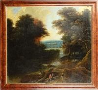 paysage boisé animé by jacques d' arthois