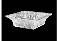 square bowl: roses by rené lalique