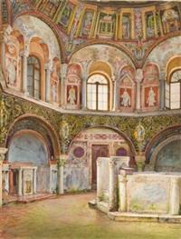 blick in das baptisterium der kathedrale von ravenna by emanuel stöckler