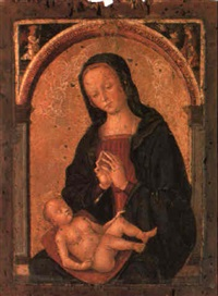 the madonna and sleeping christ child by antonio massari da viterbo