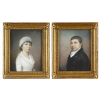mr. and mrs. stewart, née hamilton (pair) by james sharples