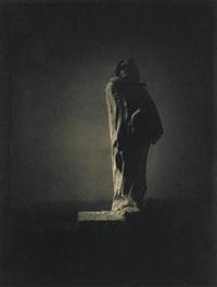 auguste rodin's sculpture of balzac (from camera work 34/35) by edward steichen