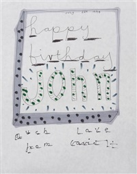 happy birthday john by david hockney