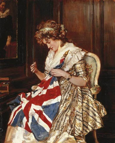 sewing for victory by talbot hughes