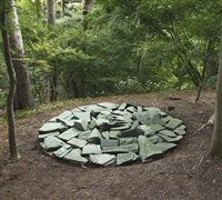 green stone circle by richard long