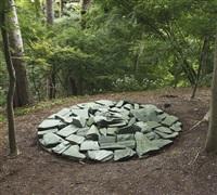 green stone circle by richard long