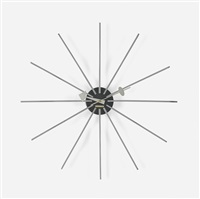 spike wall clock, model 2227a by george nelson & associates
