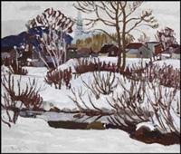 snow scene by randolph stanley hewton