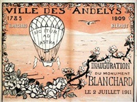 les andelys 1785-1909, blanchard - blériot, inauguration du monument blanchard le 2 juillet 1911 by albert adolphe
