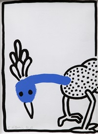 from the story of red and blue by keith haring