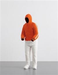 orange hoody by erwin wurm