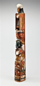 totem pole (kwakwaka'wakw (kwakiutl)) by anonymous-inuit