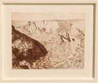 rocher de belle-isle by claude monet