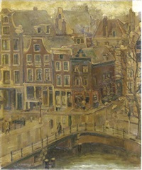a view of the singel, amsterdam by josephine margaretha faber
