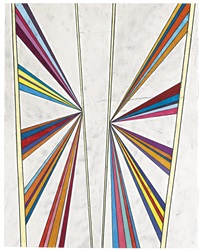 untitled (butterfly five color ray) by mark grotjahn