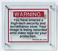 red securityland warnings by julia scher