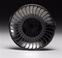 san ildefonso blackware pottery plate by maria martinez