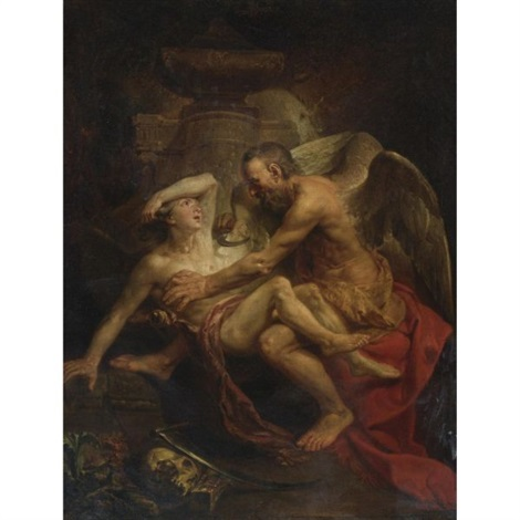 time clipping the wings of love by johann joseph zoffany