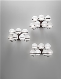 wall lights, model no. 237/7 (set of 3) by gino sarfatti