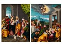 anbetung der könige (+ die heilige familie mit der familie johannes des täufers; pair) by german school-northern (17)