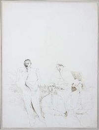 scene with four figures by andrew clement verster