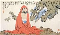 红衣达摩 镜片 纸本 by fan zeng