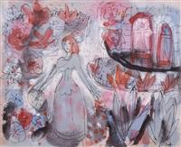 mädchen im sommerlichen blumengarten by elisabeth ahnert